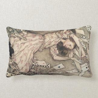 Vintage Alices Adventures in Wonderland by Rackham Lumbar Pillow