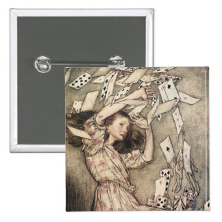 Vintage Alices Adventures in Wonderland by Rackham Pinback Button
