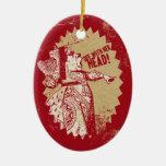 Vintage Alicia apagado con su cabeza Ornaments Para Arbol De Navidad
