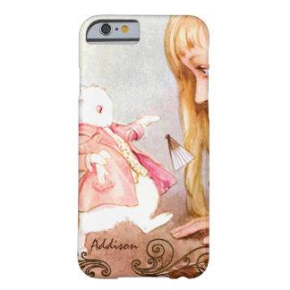 Vintage Alicia del conejo en iPhone del país de Funda Para iPhone 6 Barely There