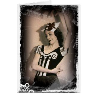 Vintage Alicia en ballet del país de las maravilla Tarjeta De Felicitación