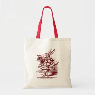 Vintage Alicia en conejo del blanco del país de la Bolsas Lienzo