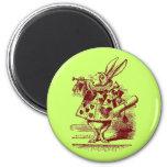 Vintage Alicia en conejo del blanco del país de la Imán Para Frigorífico