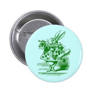 Vintage Alicia en conejo del blanco del país de la Pin