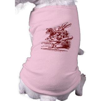 Vintage Alicia en conejo del blanco del país de la Ropa De Perro