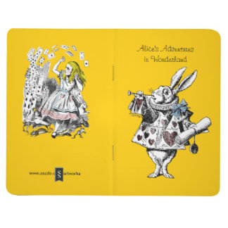 Vintage Alicia en diario del bolsillo del país de  Cuaderno Grapado