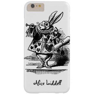 Vintage Alicia en el conejo blanco del país de las Funda De iPhone 6 Plus Barely There