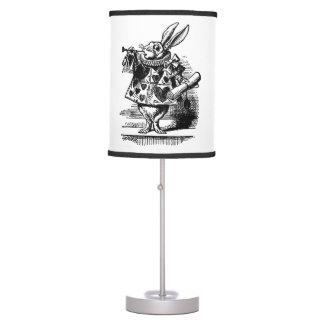 Vintage Alicia en el conejo blanco del país de las Lámpara De Mesa