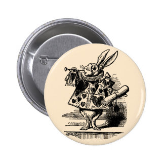Vintage Alicia en el conejo blanco del país de las Chapa Redonda 5 Cm