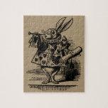 Vintage Alicia en el conejo blanco del país de las Puzzles Con Fotos