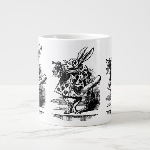 Vintage Alicia en el conejo blanco del país de las Taza Extra Grande