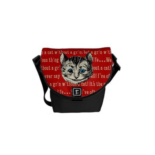 Vintage Alicia en el gato de Cheshire del país de  Bolsas De Mensajería