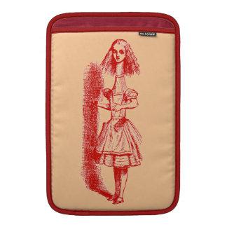 Vintage Alicia en el país de las maravillas Fundas Macbook Air