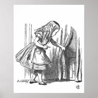 Vintage Alicia en el país de las maravillas que Póster