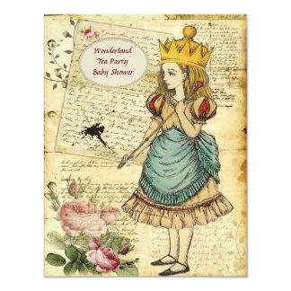 """Vintage Alicia en la princesa fiesta de bienvenida Invitación 4.25"""" X 5.5"""""""