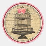 Vintage Alicia en pegatinas de la fiesta del té de