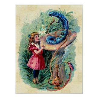 Vintage Alicia en poster del país de las