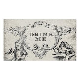 Vintage Alicia en tarjetas de la bebida del boda Tarjetas De Visita