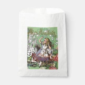 Vintage Alicia en tarjetas de la fiesta del té del Bolsas De Recuerdo