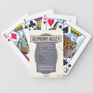 Vintage Alimony Alley Sheet Music Playing Cards