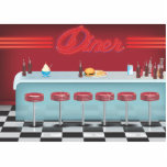 Vintage All American Diner Acrylic Cut Out