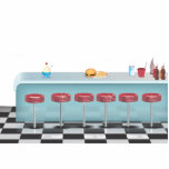 Vintage All American Diner Acrylic Cut Outs