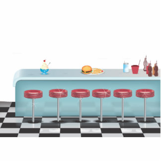Vintage All American Diner Cutout