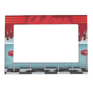 Vintage All American Diner Magnetic Picture Frame