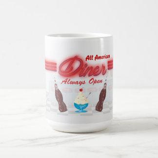 Vintage All American Diner Classic White Coffee Mug