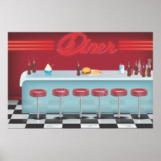 Vintage All American Diner Poster