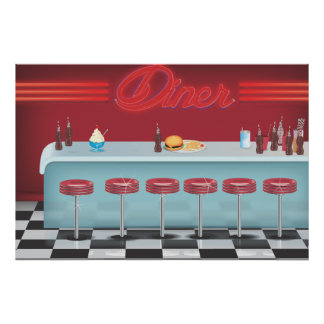 Vintage All American Diner Posters