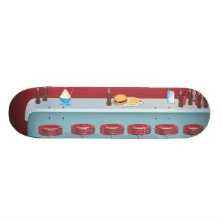 Vintage All American Diner Skateboard Deck
