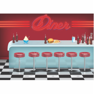 Vintage All American Diner Statuette