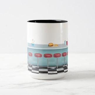 Vintage All American Diner Two-Tone Coffee Mug