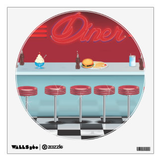 Vintage All American Diner Wall Sticker