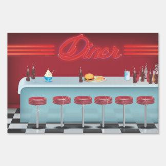 Vintage All American Diner Yard Sign