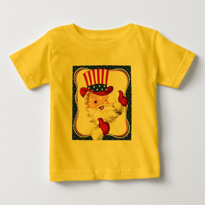 Vintage All American Santa Claus Art Baby T-Shirt