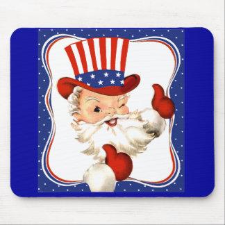 Vintage All American Santa Claus Art Mouse Mats