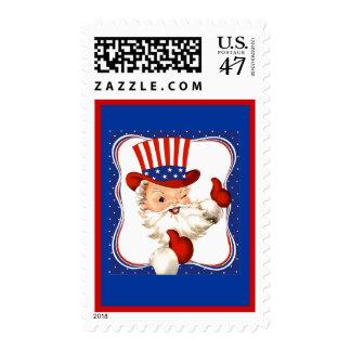 Vintage All American Santa Claus Art Postage Stamp