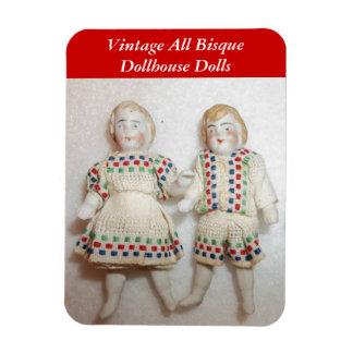 "Vintage All Bisque Dollhouse Dolls Magnet 4x3""flex"