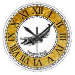 Vintage Alligator Personalize Large Clock