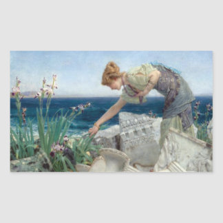 Vintage Alma-Tadema Among the Ruins Sticker
