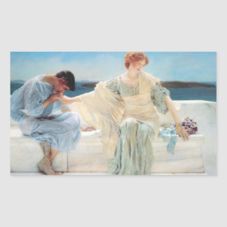 Vintage Alma-Tadema Painting Rectangular Sticker