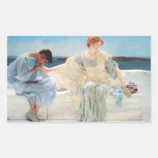 Vintage Alma-Tadema que pinta al pegatina
