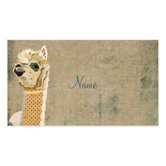 Vintage Alpaca Blue Business Card