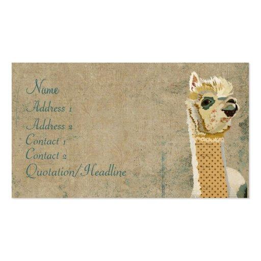 Farm animal business card templates page2 bizcardstudio vintage alpaca blue business card colourmoves