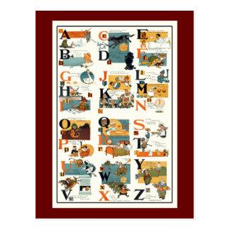 Vintage Alphabet Chart ABC Teachers Teaching gifts Postcards