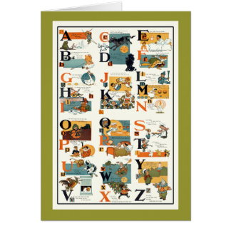Vintage Alphabet Chart Teachers gifts Card