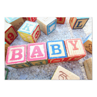 Vintage Alphabet Wooden Baby Word Building Blocks Card