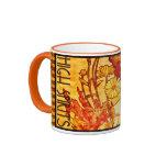 Vintage Alphons Mucha Coffee Mug-High Spirits Ringer Coffee Mug